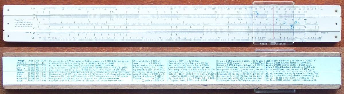british slide rules
